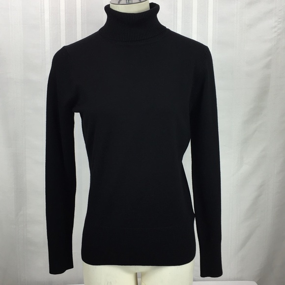 Cable Gauge Sweaters Nwt Cable Gauge Black Knit Turtleneck